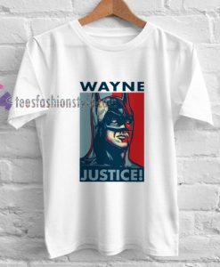 wayne justice league t shirt