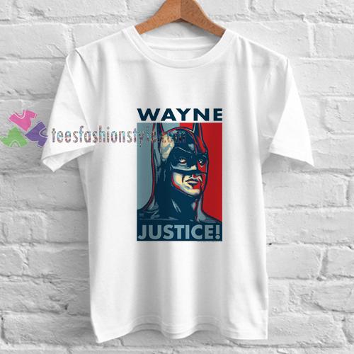 wayne justice league t shirt
