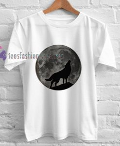 Wolf and Moon t shirt