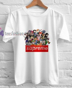 anime supreme t shirt