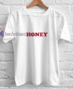 honey red font t shirt