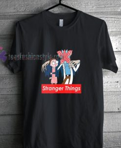 cartoon stranger things supreme t shirt