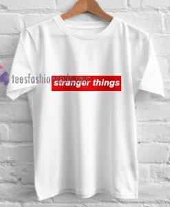 stranger things inspire supreme t shirt