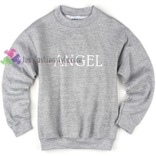 angel grey sweatshirt