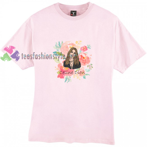 Celine Dion Floral t shirt