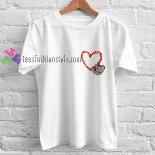 Hanging Heart t shirt