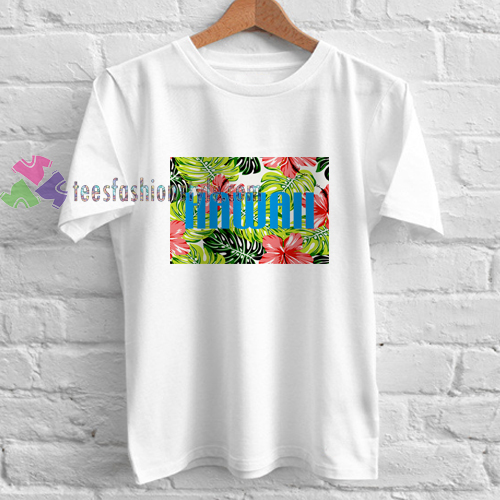 Hawaii flower shirt gift tees unisex adult cool tee shirts for Hawaii souvenir t shirts