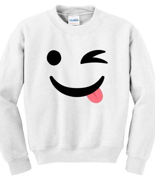Emoji White Sweatshirt
