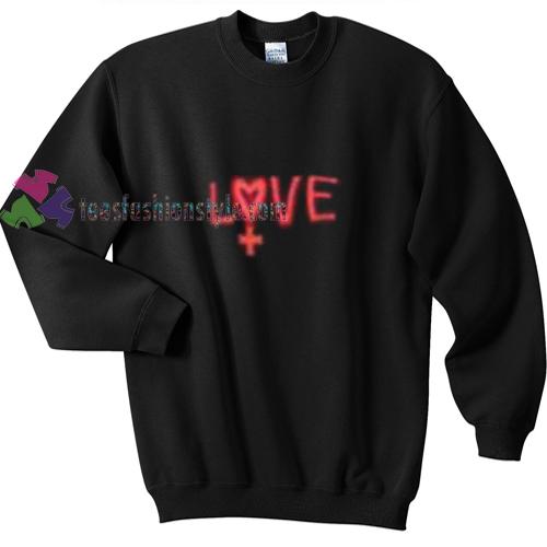 Love Red Black Sweatshirt
