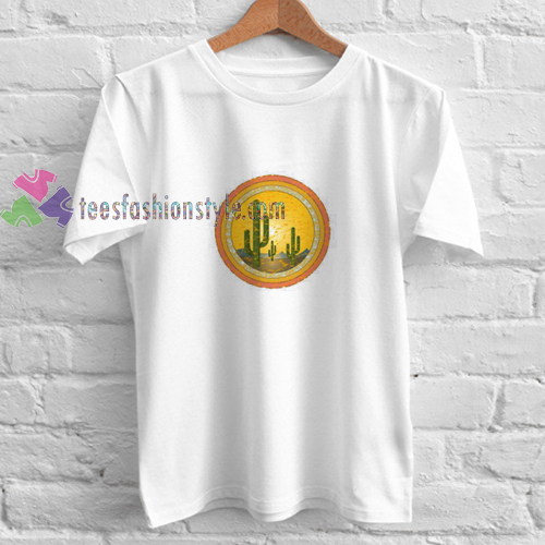 Sunset Cactus t shirt