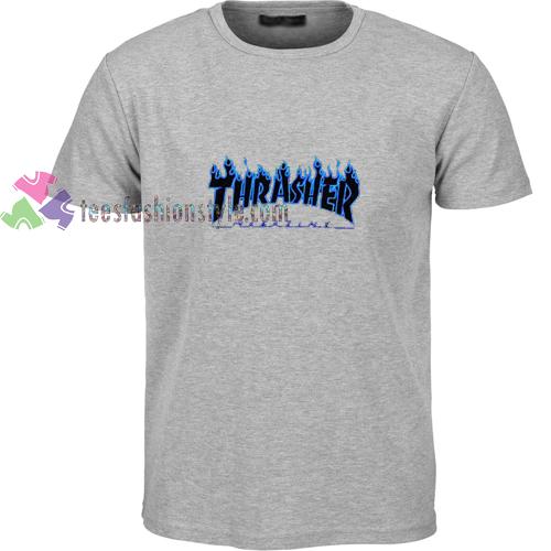 Thrasher Blue Fire t shirt