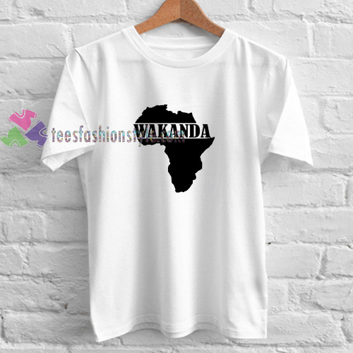 Wakanda Map t shirt