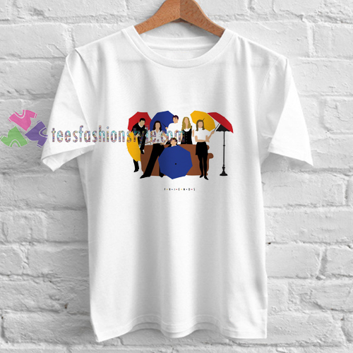 95e3a5392 Friends Rainbow Cast t shirt gift tees unisex adult cool tee shirts ...