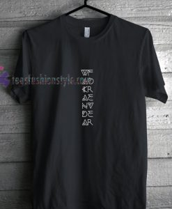 Wakanda Down Font t shirt