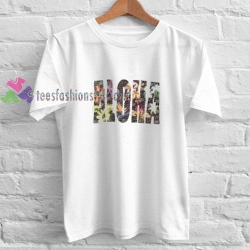 Aloha Flower t shirt
