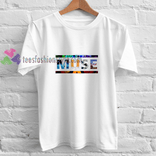 Muse Font Rainbow t shirt