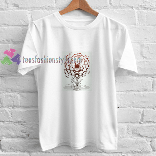 Muse Abstrack White t shirt