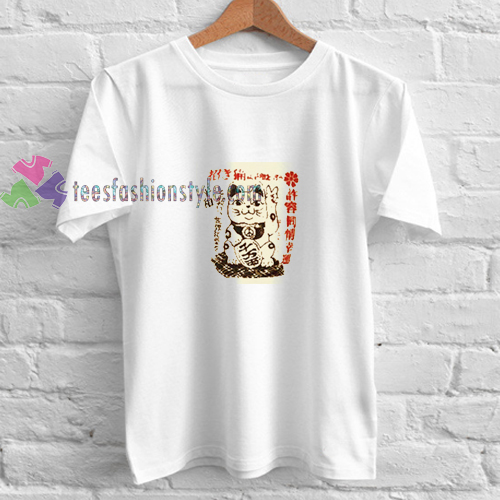 Chinnese Lucky Cat t shirt