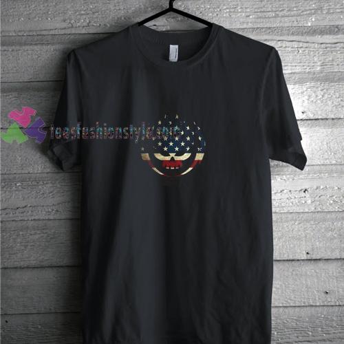 Skull American Flag t shirt