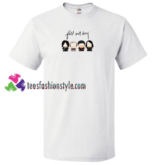 c012daee8d84 Fall Out Boy Cartoon Pop Rock Band T Shirt gift tees unisex adult ...
