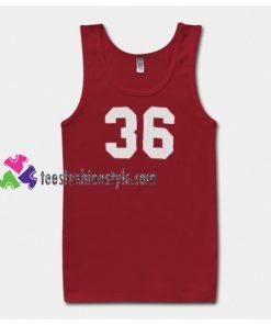36 number Tanktop gift tanktop shirt unisex custom clothing Size S-3XL
