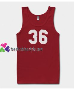 36 number Tanktop gift tanktop shirt unisex custom clothing Size S-3XL