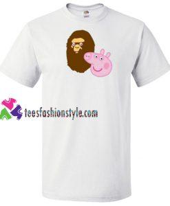 A Bathing Ape Bape Head X Peppa Pig Parody T Shirt gift tees unisex adult cool tee shirts