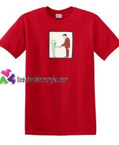 Alien Handshake With Man T Shirt gift tees unisex adult cool tee shirts
