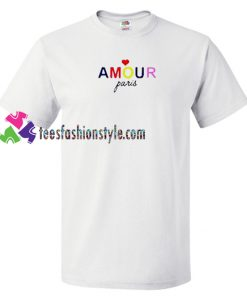 Amour Paris T Shirt gift tees unisex adult cool tee shirts