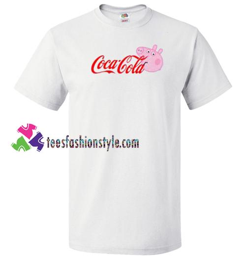00b14f809dd Coca Cola Coke X Peppa Pig Parody T Shirt gift tees unisex adult cool tee  shirts – teesfashionstyle.com