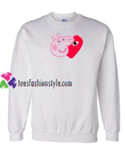 Comme Des Garcons Play X Peppa Pig Parody Sweatshirt Gift sweater adult unisex cool tee shirts