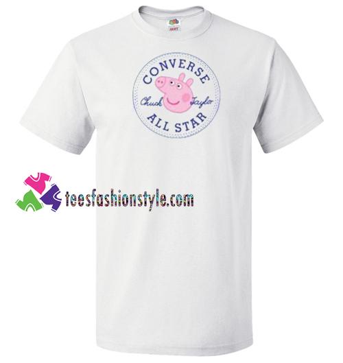 689ba7963501 Converse All Star X Peppa Pig Parody T Shirt gift tees unisex adult cool  tee shirts