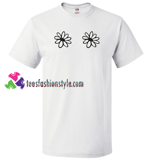 Cute Twin Flowers T Shirt gift tees unisex adult cool tee shirts
