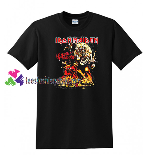 Iron Maiden The Number Of The Beast T Shirt gift tees unisex adult cool tee shirts