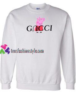 Peppa Pig Red Gucci Parody Sweatshirt Gift sweater adult unisex cool tee shirts