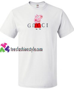 Peppa Pig Red Gucci Parody T Shirt gift tees unisex adult cool tee shirts