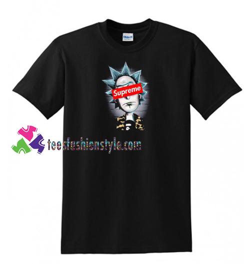 35735efb Rick And Morty X Supreme X Bape T Shirt gift tees unisex adult cool tee  shirts