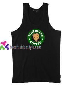Starbucks Coffee Groot Unisex Tank Top gift tanktop shirt unisex custom clothing Size S-3XL
