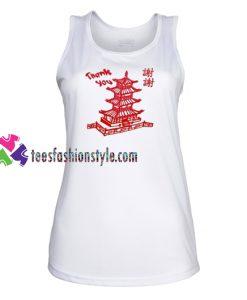 Thank You Chinese Tank top gift tanktop shirt unisex custom clothing Size S-3XL