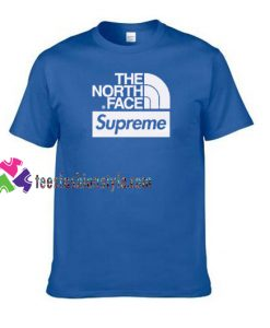 The North Face X Supreme Logo T shirt gift tees unisex adult cool tee shirts