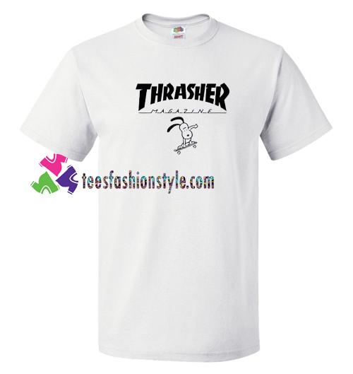 6e8dbd63f118 Thrasher Magazine x Snoopy T shirt gift tees unisex adult cool tee shirts