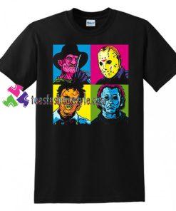 2018 Pop Art Harajuku Tee Horror Halloween T Shirt Jason Freddy Mashup T Shirt gift tees unisex adult cool tee shirts