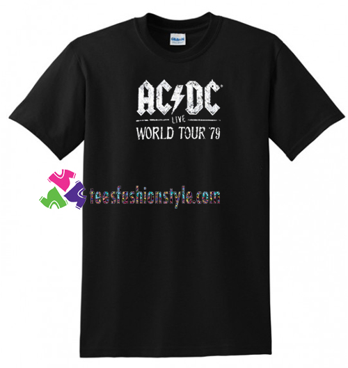ACDC Live World Tour 79 T Shirt gift tees unisex adult cool tee shirts