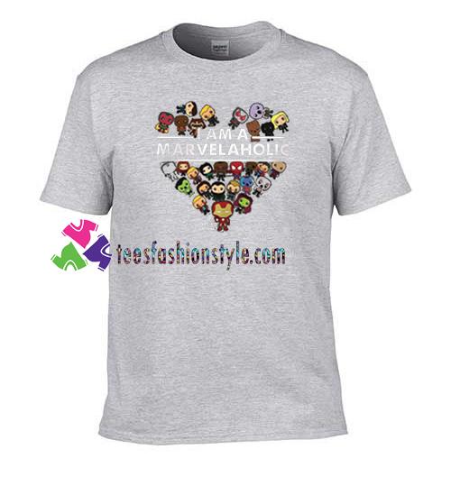 I am a Marvelaholic T Shirt gift tees unisex adult cool tee shirts