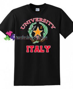 University Italy T Shirt gift tees unisex adult cool tee shirts