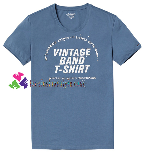 Vintage Band T Shirt gift tees unisex adult cool tee shirts