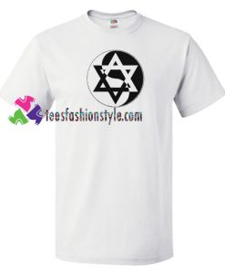 Yin Yang Star of David T Shirt, Jewish Subliminal music tee Israel inspired Shirt gift tees unisex adult cool tee shirts