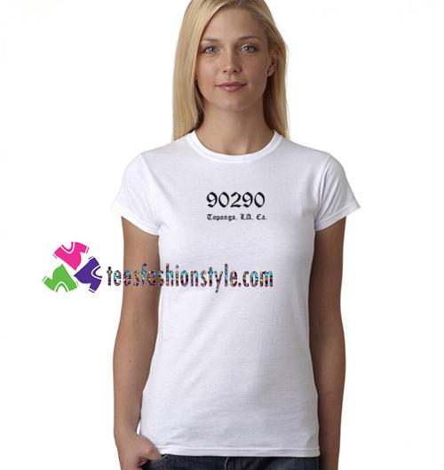 90290 Topanga Los Angeles California T Shirt gift tees unisex adult cool tee shirts