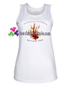 Be Kind To Animals TankTop gift tanktop shirt unisex custom clothing Size S-3XL