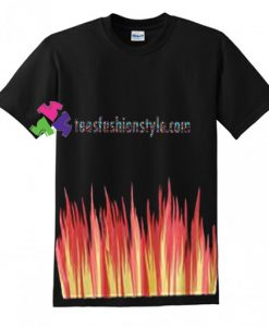 Fire Flame T Shirt gift tees unisex adult cool tee shirts